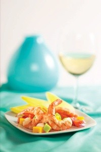 Grilled Shrimp with Tropical Fruit Salsa