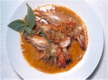 Peanut Curry With Freshwater Prawn